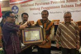 Ikut Tanda Tangani Deklarasi, Bengkalis Dapat Nilai A Penggunaan Bahasa Indonesia di Provinsi Riau