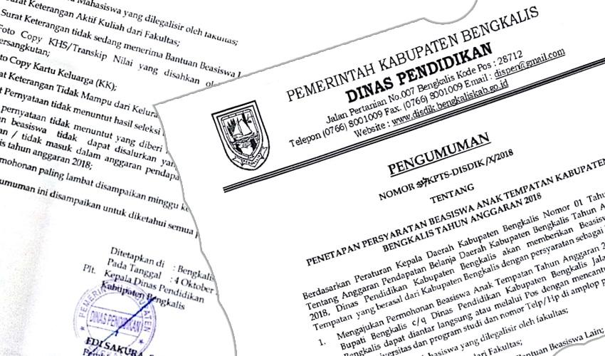 Pengumuman Beasiswa Bagi Mahasiswa Tempatan Kabupaten